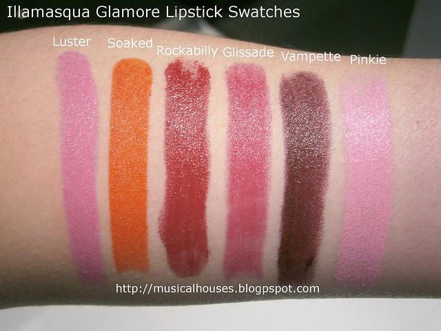 Illamasqua Glamore Lipsticks Swatches 2