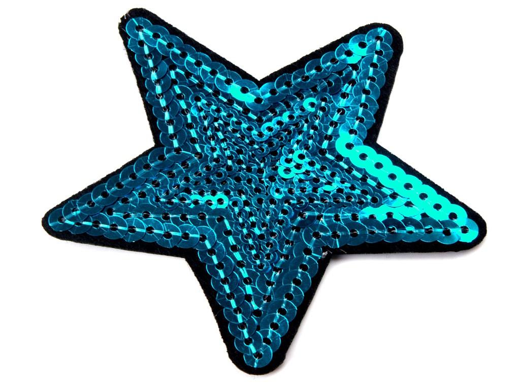Paillettenstern, blau