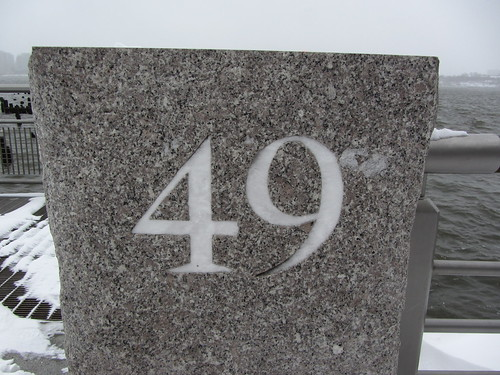 snow fills pier number