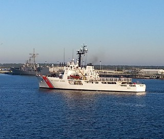 Coast Guard Cutter Valiant returns to Naval Station Mayport, Florida, Feb. 11, 2015. During their 41-day deployment the crew of the Valiant intercepted and processed more than 160 Cuban migrants. Photo by U.S. Coast Guard.