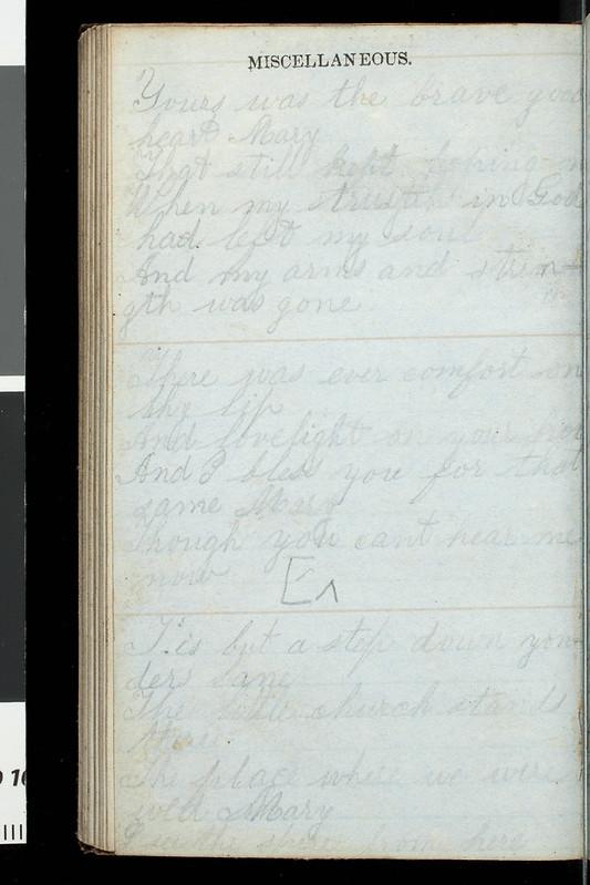 Diary of Benjamin Bennett Briggs, 1849 (22971)