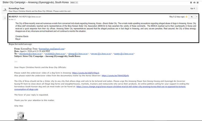 Response from Mayor of Brea_Christine Marick