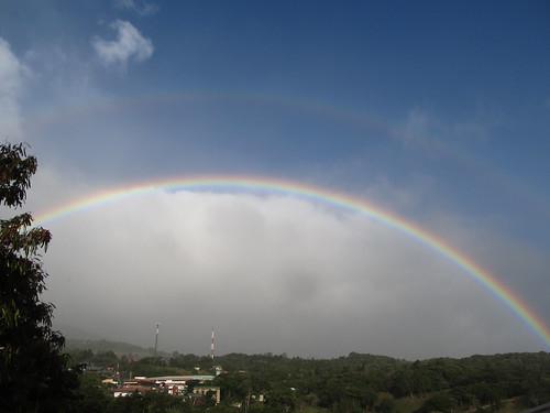Santa Elena: un double arc-en-ciel