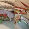 #dinner, #turkey ,#tomato,# lettuce, #wholewheatbread ,all in one #sandwich, #yummy!