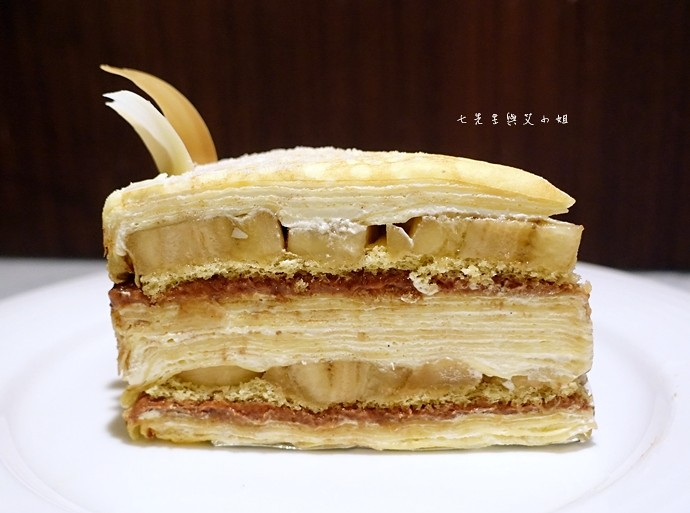 26 台南 深藍咖啡館 千層蛋糕