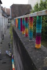 Yarn bombing Besançon 40