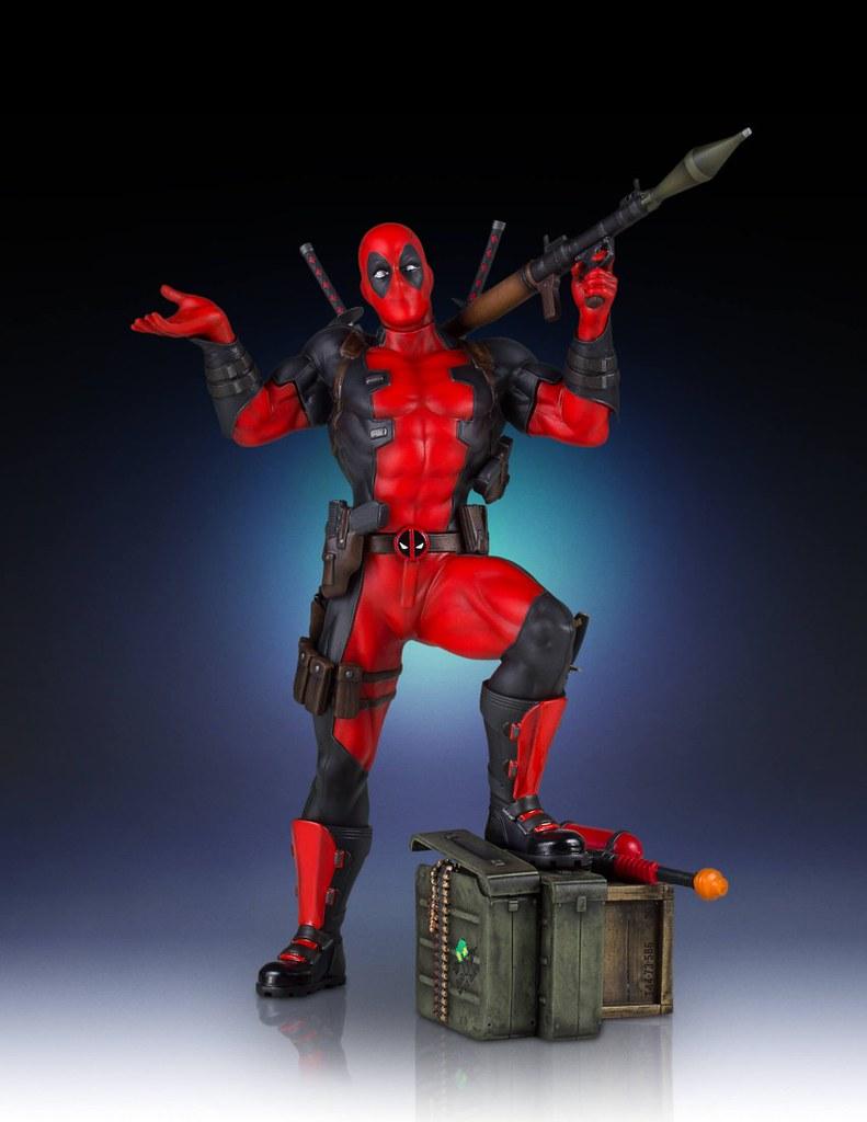 Gentle Giant【嘴砲英雄:死侍】Deadpool 1/8 比例全身雕像