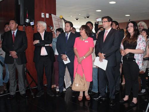 El día 25 de mayo del 2016 se llevó a cabo la Exposición pictórica: Miradas entrelazadas México-Alemania en el Senado de la República.