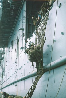 Marine from 3d Battalion, 4th Marines Loading onto Helicopter Carrier 5, May 1967