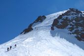 Georgien, Gipelaufbau Kasbek, 5047 m. Foto: Dr. Stephanie Geiger.