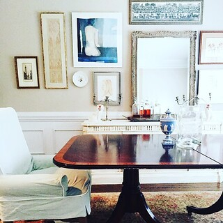 super chic style in the dining room