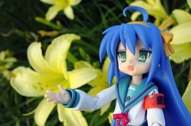 Konata and Lilies