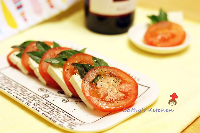 蕃茄涼豆腐佐羅勒 Asian style Tomato and Mozzarella Bites 2