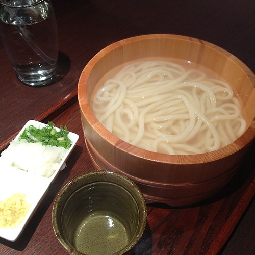 Will's plain udon with udon-yu from Marugame Monzo