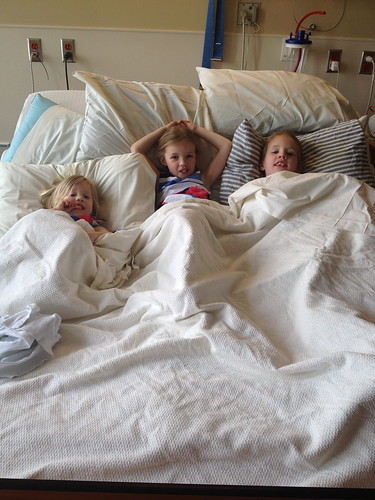three girls in my bed