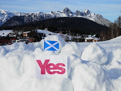 YesScotland campaign publicity in Austria, March 2013