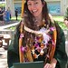 Christina Johnson, a received her BS in global environmental science at the University of Hawaii at Manoa's commencement ceremony. May 11, 2013.