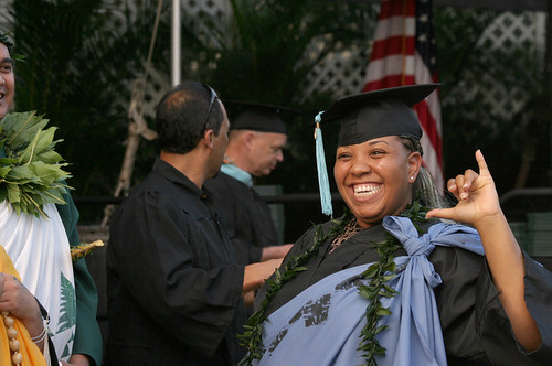 """<p>Leeward Community College graduates at the campus' commencement ceremony at the Tuthill Courtyard. May 4, 2013<br /> <br /> View more photos at <a href=""""http://www.flickr.com/photos/leewardcc/sets/72157633591032402"""">www.flickr.com/photos/leewardcc/sets/72157633591032402</a></p>"""