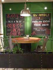 Sauce - Pizza & Wine chalkboard