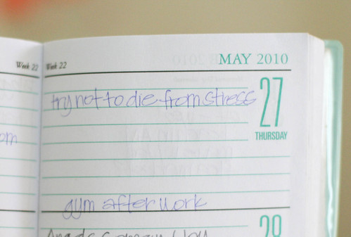 My life, 3 years ago. I would write myself witty notes in my planner to make myself feel better. :)