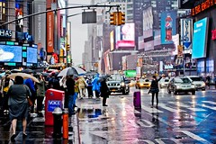 Times Square When It Rains