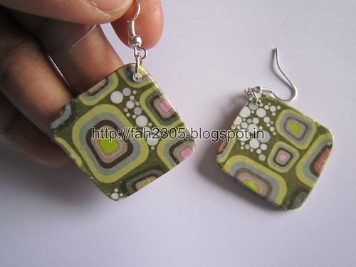 Handmade Jewelry - Card Paper Earrings  (Album 3) (14) by fah2305