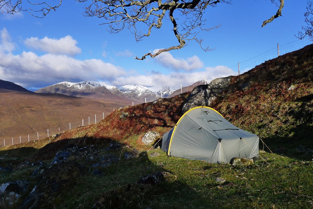 Camping above Coire Doe