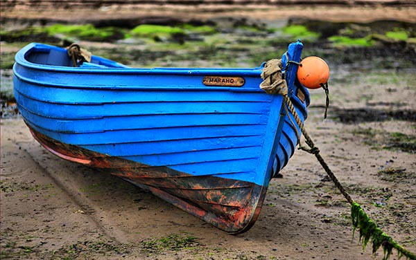 Cool Blue Boat - Scottish Coast