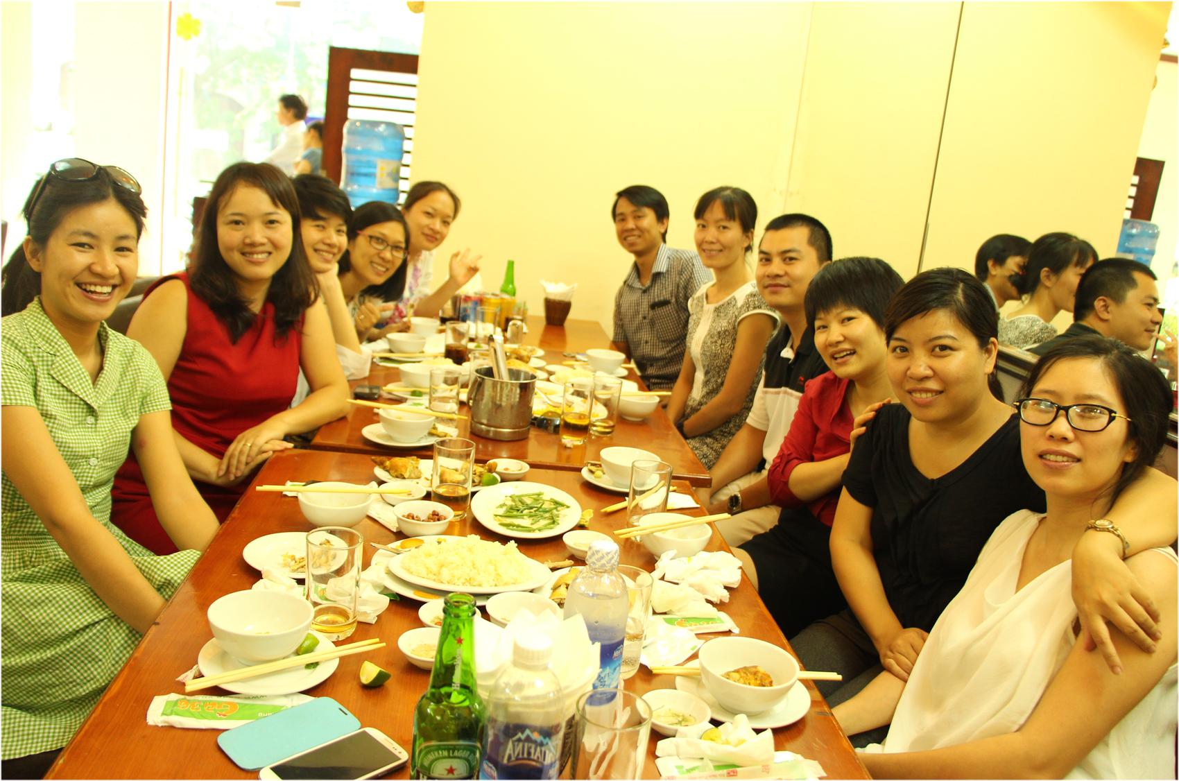 Classmates meeting after 9 years graduation.