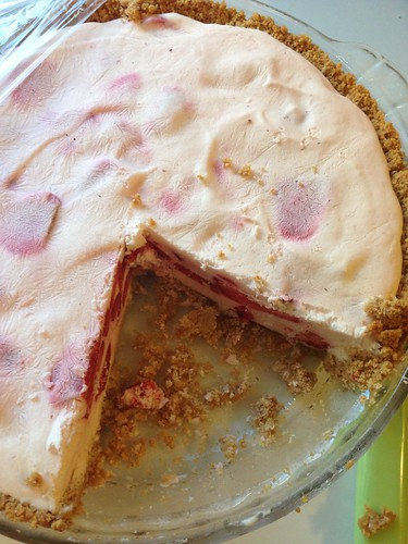 Frozen strawberry pie!