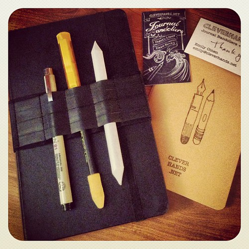 My new Journal Bandolier from cleverhands.net arrived today, and it's perfect! I love it! #moleskine