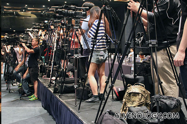 There were lots of media present