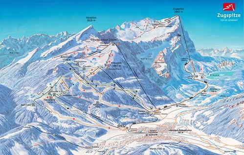 Garmisch-Partenkirchen - mapa sjezdovek