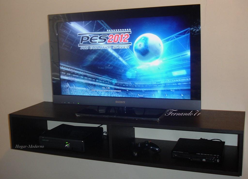 Mesa tv flotante en mercado libre for Mueble para xbox one