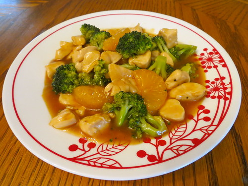 Chicken With Broccoli and Oranges