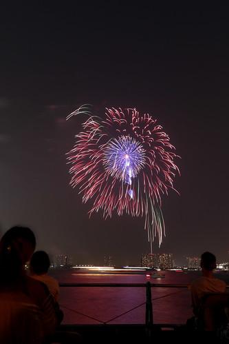 「昇曲付 マジック牡丹」 by 小口昭三 東京湾大華火 2013 Tokyo Bay Grand Fireworks
