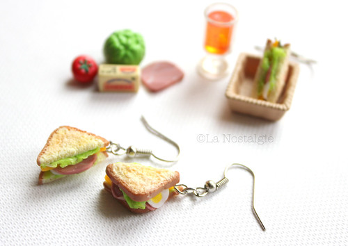 Miniature Sandwich Earrings