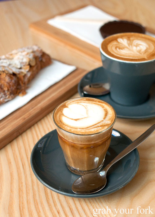 cortado spanish half latter at the stables cafe surry hills