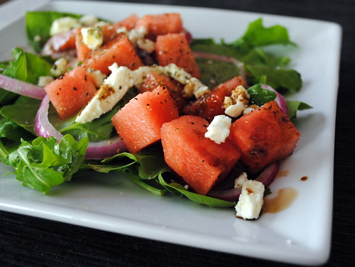 Watermelon & Feta Salad with Pickled Onions & Dill Vinaigrette