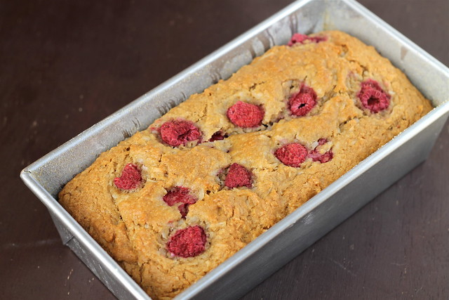 Raspberry Coconut Bread, vegan or not