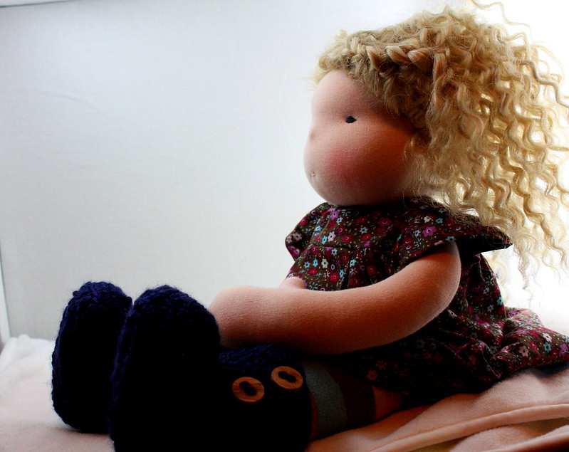"Sawyer a 16"" wefted waldorf doll"