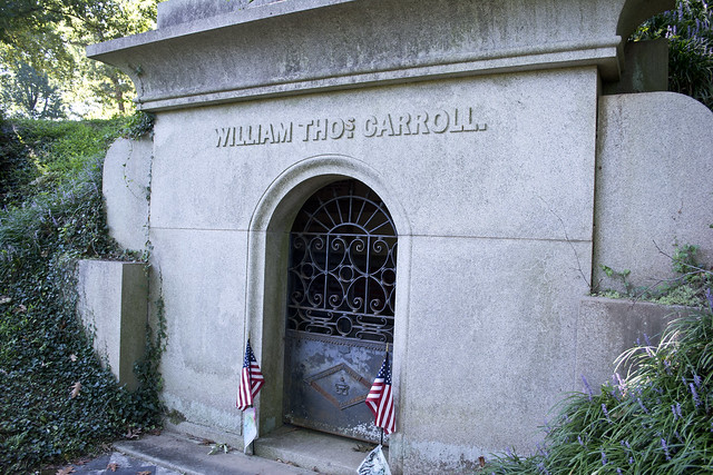 Carroll Mausoleum - Rock Creek Section overlook - Oak Hill Cemetery - 2013-09-04