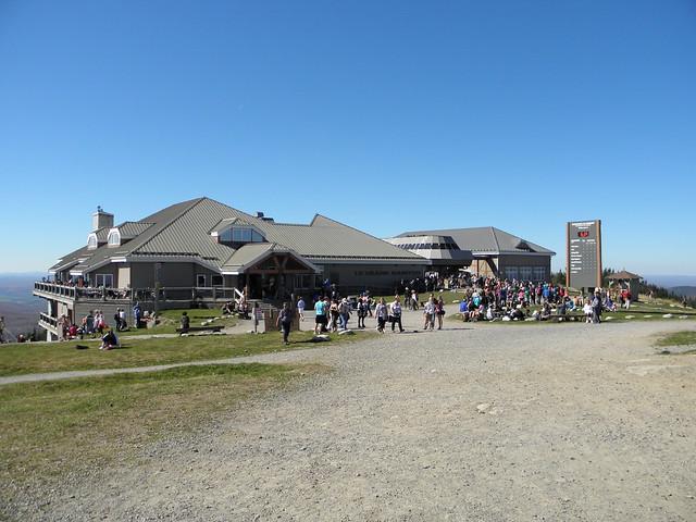 Foto chata na vrcholu