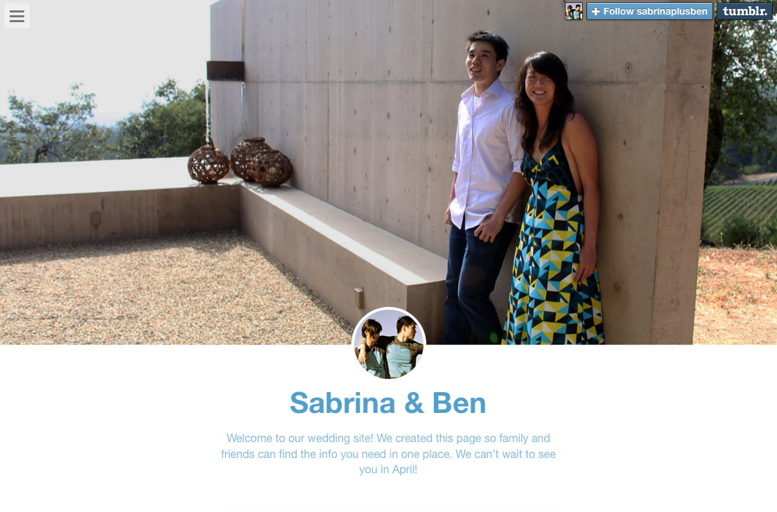 welcome how to create a wedding website on tumblr how to create a wedding website on tumblr