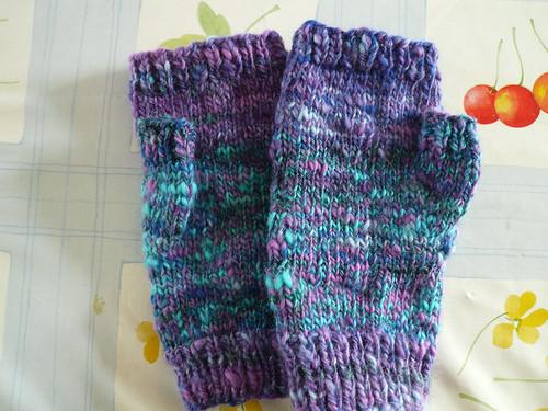 Purple-turq handspun