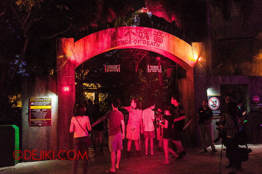 HHN3 - Songs of Death entrance
