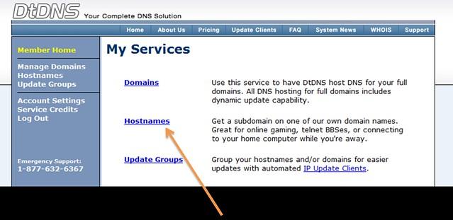 dtdns-click-a-hostnames