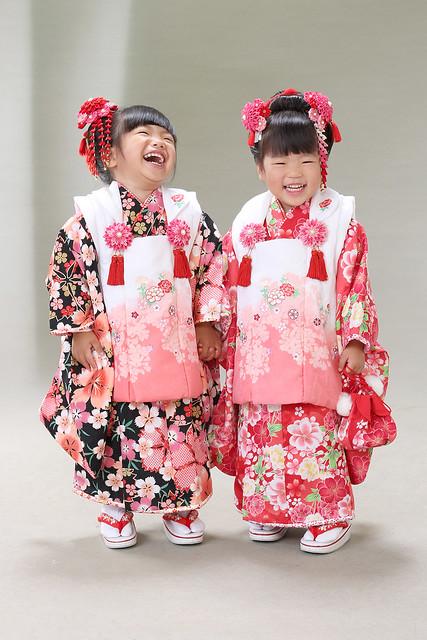 双子姉妹の素敵な七五三