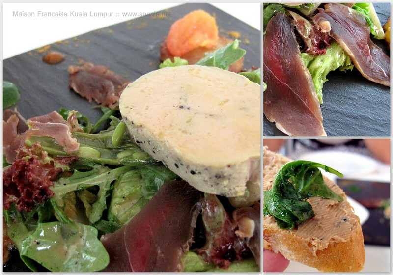 Maison Francaise Kuala Lumpur - landaise salad foie gras