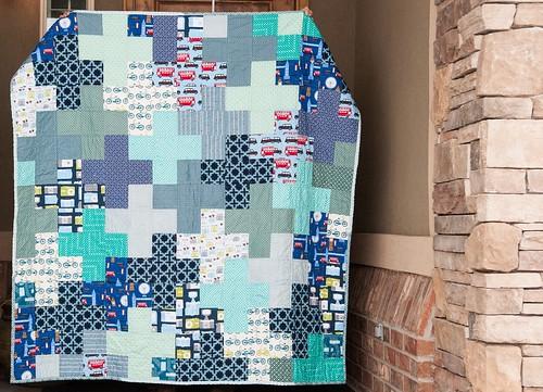 Blue Plus Quilt